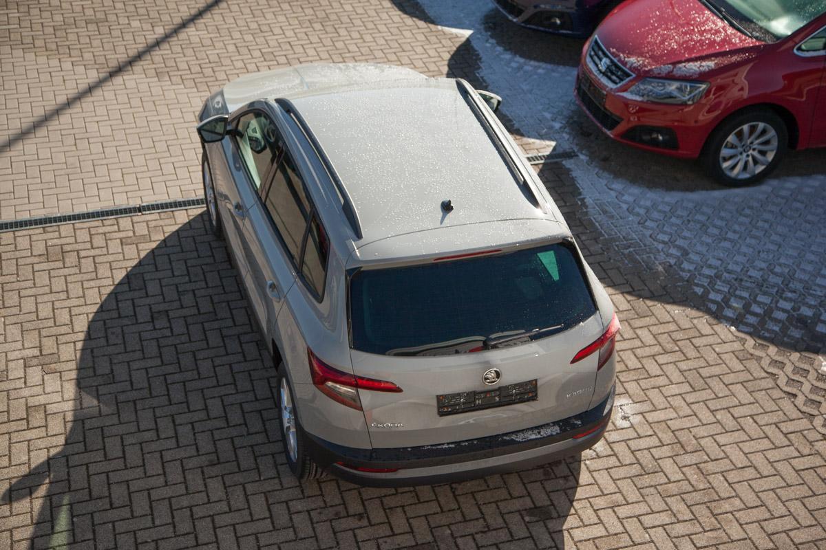 Skoda Karoq Ambition 1.5 TSI ACT 110 KW 6-Gang / Deutsche Neufahrzeuge und EU-Neufahrzeuge – Aha! Fahrzeughandel GmbH in Althengstett